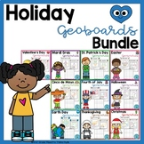 Holiday Geoboard Task Cards Bundle