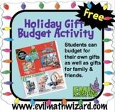 Holiday Gift Budget Center – Real Life Math Activity