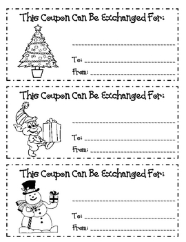 Holiday Gift Coupons