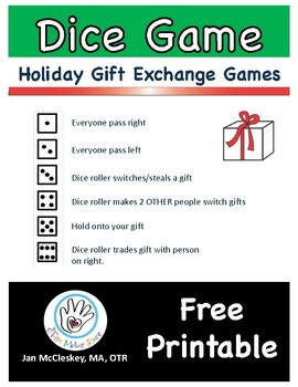 Holiday Gift Exchange Game by The Fine Motor Store | TpT