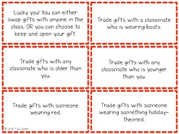 Holiday Gift Exchange Prompts