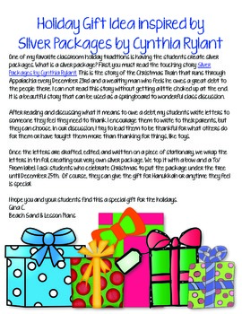 Holiday Gift Idea: Silver Packages Freebie