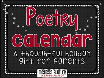 Holiday Gift Idea for Parents- Poetry Calendar