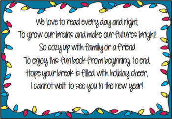 Holiday Gift Labels for Books