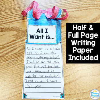 Holiday Gift (Present): One Page Craftivity