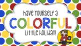 Holiday Gift Tag | Colorful Holiday
