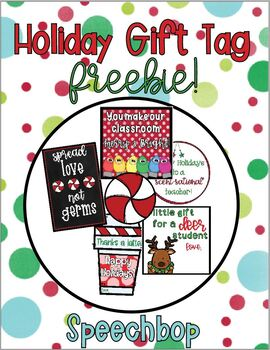 Holiday Gift Tag - FREEBIE!