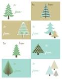 Holiday Gift Tag, Printable, Digital Download