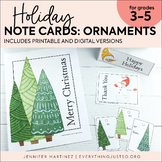 Holiday Note Cards   Thank You Notes   Notes to Students   Snowmen and Trees