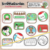 Holiday Gift Tags Christmas ClipArt