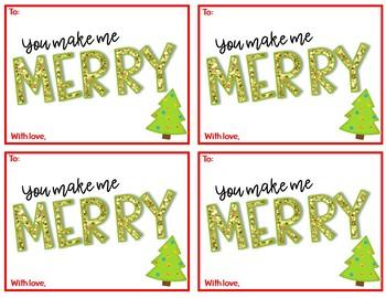 Holiday Gift Tags FREEBIE