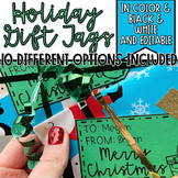 Holiday Gift Tags In Color & Black & White EDITABLE