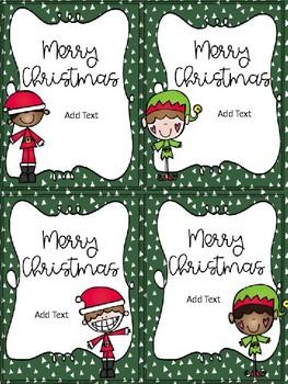 Holiday Gift Tags-Printable AND Editable Versions!