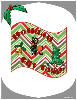 Holiday Gift Tags- Rectangular