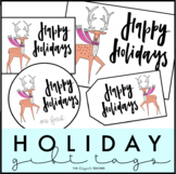 Holiday Gift Tags | Reindeer Gift Tags | Student Gift Tags