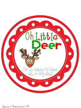 Holiday Gift Tags {Reindeer, Santa, Mrs. Clause, Holiday}