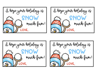 Holiday Gift Tags: Snowman Theme