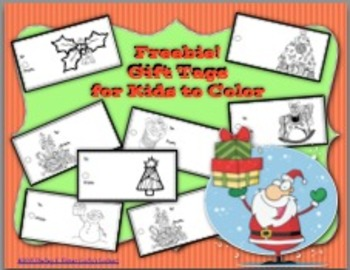 Holiday Gift Tags To Color Freebie