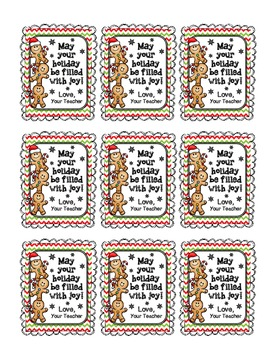 Holiday Gift Tags for Student Gifts