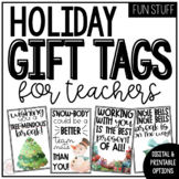 Holiday Gift Tags for Teachers | Digital and Printable