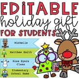 Holiday Gift for Students *Editable Bookmarks*