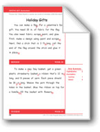 Holiday Gifts (Gr. 2/Week 18)