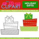 Holiday Gifts Stack Clipart Single