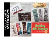 Holiday Gifts: Student Bookmarks