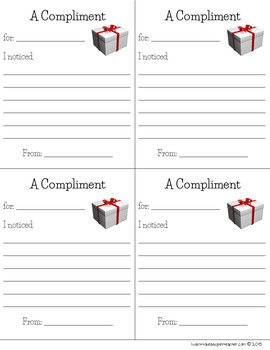 Christmas Gifts for Students - FREE Top Ten List and Compliment Templates