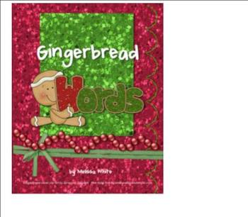 Holiday Gingerbread Making Words