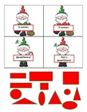 Holiday Gnome Shape Sorting Cards based on NWEA RIT bands 151-171