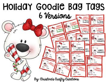 Holiday Goodie Bag Tags