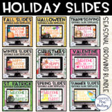 Holiday Google Slides Templates Distance Learning