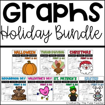 Holiday Graph Bundle {Bar Graphs, Pictographs, Line Plots}
