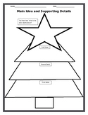 Holiday Graphic Organizer: Christmas Tree Main Idea and Three Supporting Details