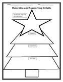 Holiday Graphic Organizer: Christmas Tree Main Idea and Th