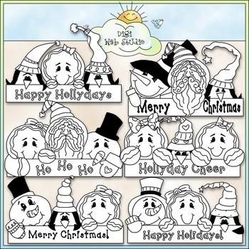 Holiday Greetings Clip Art - Christmas Clip Art - Holidays - CU Clip Art & B&W