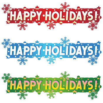 Holiday Greetings - Happy Holidays! - Three Variants, Commercial Use Allowed