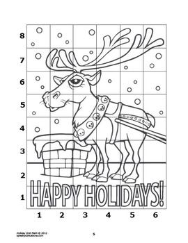 Reindeer Math Mystery Puzzle