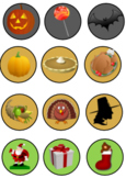 Holiday Gumball Reward - Halloween, Thanksgiving, Christma