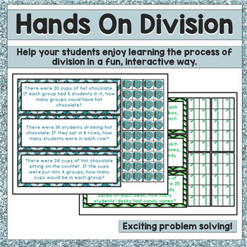 Division Strategies / Division Word Problems Math Center - Winter