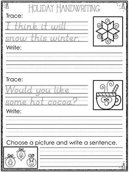 Holiday Handwriting Practice