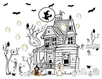 Seasonal: Halloween Haunted House Graph