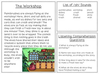 Holiday Headquarters Listening Comprehension and Articulation Pack