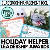 Holiday Helpers Leadership Awards Classroom Management Tool