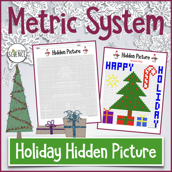 Holiday Hidden Picture Metric System (Color By Number)