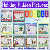 Holiday Hidden Pictures for Science Bundle (Color By Number)