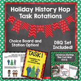 Holiday History Hop Task Rotation Choice Board