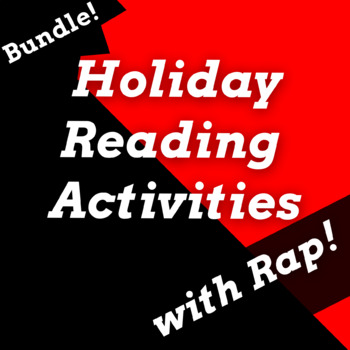 Holiday History Reading Passage Activities Using Rap Songs *Growing Bundle