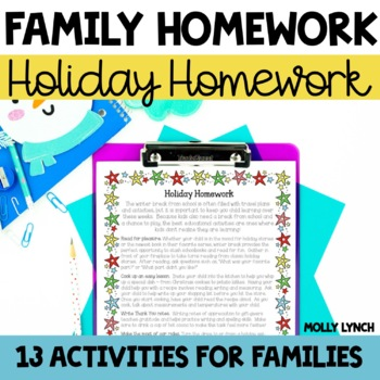 Holiday Homework - Activities to Continue Learning During the Holidays